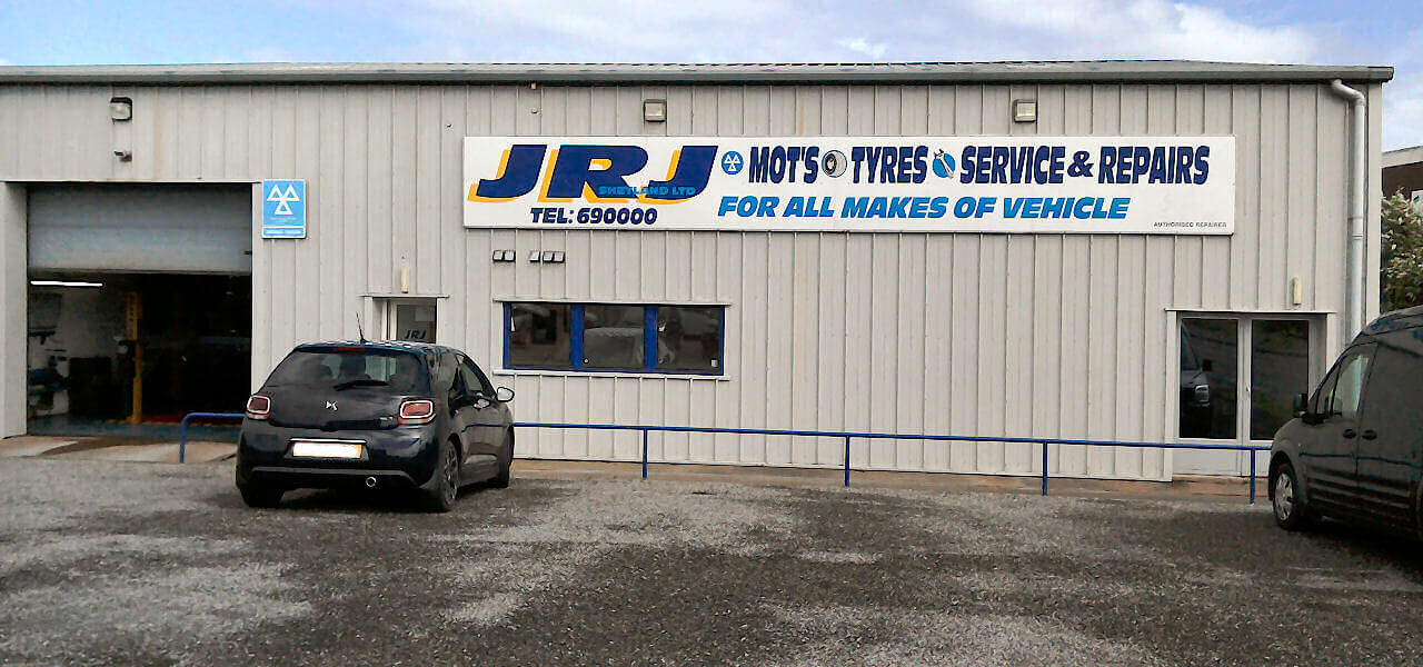 MOT Testing, Tyres, Exhausts and General Garage Services at JRJ Shetland Ltd. Lerwick